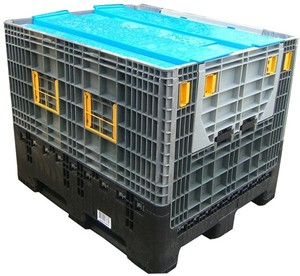 pallet box packaging box injection molding grid surface rack abled pallet box