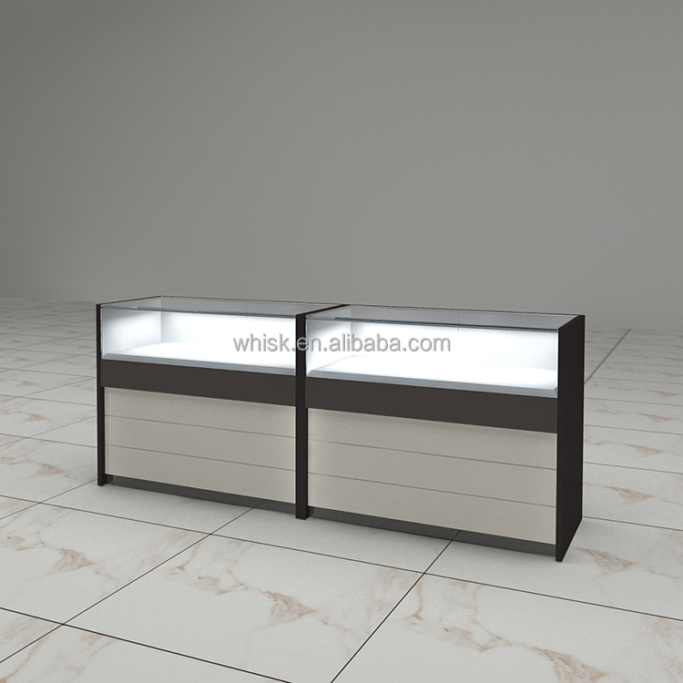 standard light meter shot glass display cabinet for watch jewelry store