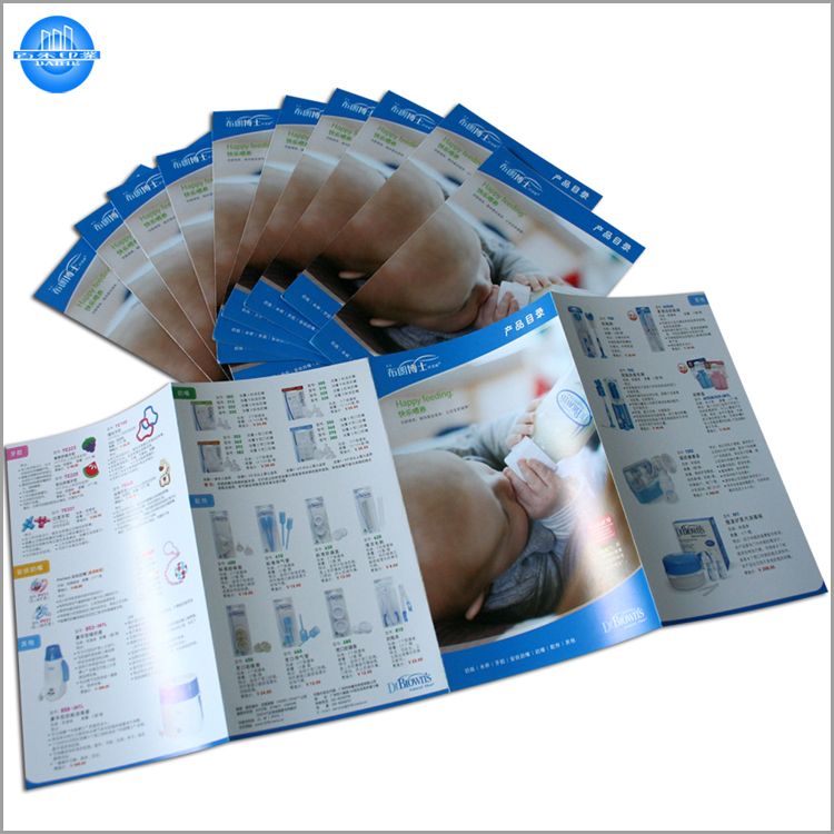 Hottest and colorful flyer printing,die-cut flyer printing