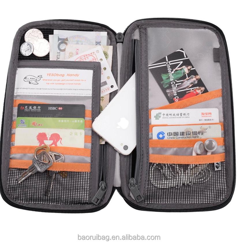 741f47d31 Waterproof Travel Organiser Wallet - Holds Cash Coin Passport Tickets  Credit Card Document ID Coin Holder Purse with Zipper