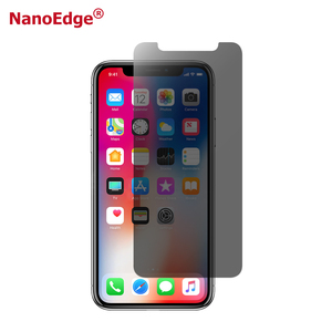 Nanoshield Anti Fingerprint Anti Glare Shockproof Anti Spy Screen Guard Film for iPhone X Nano Privacy Screen Protector