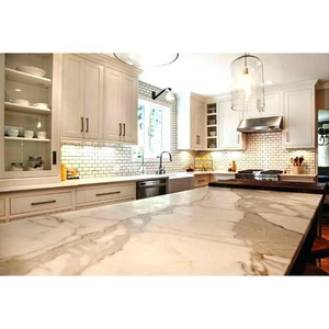 Natural Stone Calacatta Gold Marble for Kitchen Countertop Vanity Top