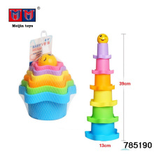 Multicolor interesting plastic kids educational toy speed game stacking cups