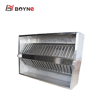 Stainless steel island range hood with two sides for industrial
