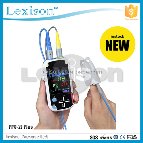 Infant/Pediatric Pulse Oximeter PPO-2J Plus: Bluetooth wireless Pulse Oximeter with Spo2/Temperature/Pulse Rate/Pleth