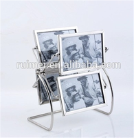 Customized stainless steel funny Metal/wood photo frame stand