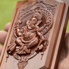 Tradition handmade rubberwood wooden carvings indian gods finished elephant god wood carving