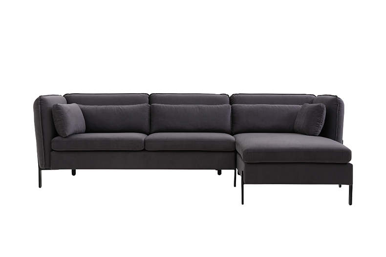 European Style Furniture Metal Leg Velvet Corner Sofas Living Room Modern  Sectional Sofa,Black Velvet Couch - Buy Sectional Sofa,Modern Sectional ...