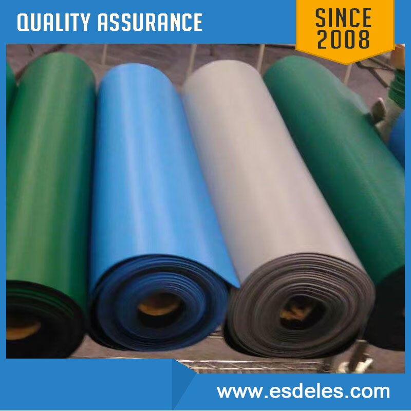 On stock rubber table mat antistatic mat for clean room