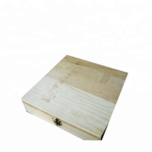 raw wooden tea box