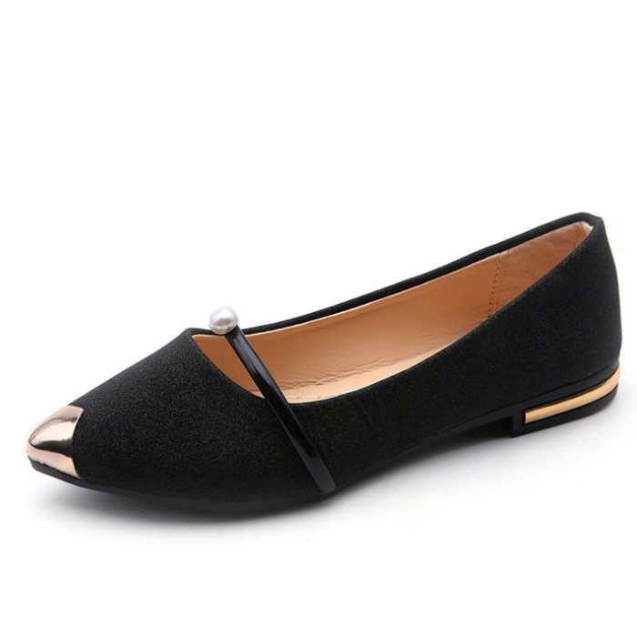 Women Flat Single Shoes Pointed Pearl Lady Shoes Shallow Mouth Girls Loafers  - Buy Latest Women Casual Shoes,Women Flat Shoes,Girl Loafer Shoes Product  on Alibaba.com