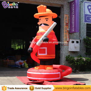 New design inflatable fire fighters cartoon characters with waterpipe