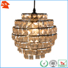 hotel multi layers chrome plating metal clear acrylic beads pendant lamp shade