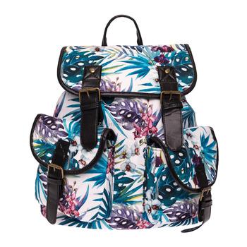 c5159f282 3d Palma impresa tropical flor de la orquídea Vintage de lona mochilas de  la escuela,