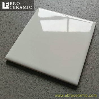X Glossy White Kitchen Ceramic Wall Tile Made In Foshan China - 10x10 white ceramic tiles