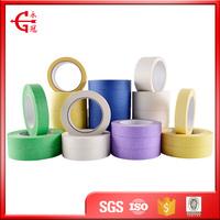 Heat resistant custom crepe paper rubber adhesive masking tape 3m