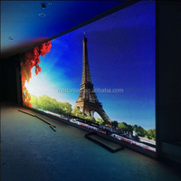 Energy saving full color HD LED video display screen transparent glass led display/ large led media facade
