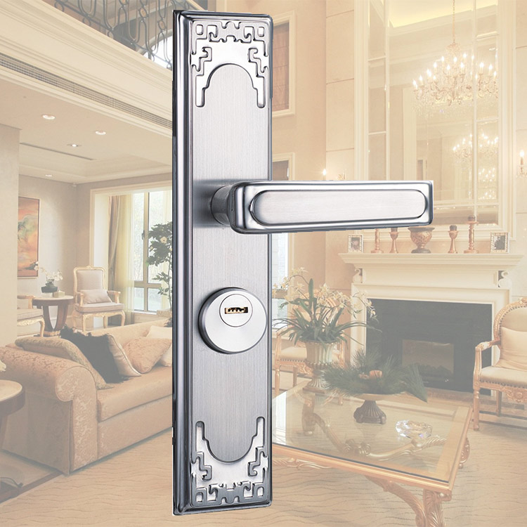 Exterior: High Quality Cheap Entry Door Keyed Lock Lever Handle