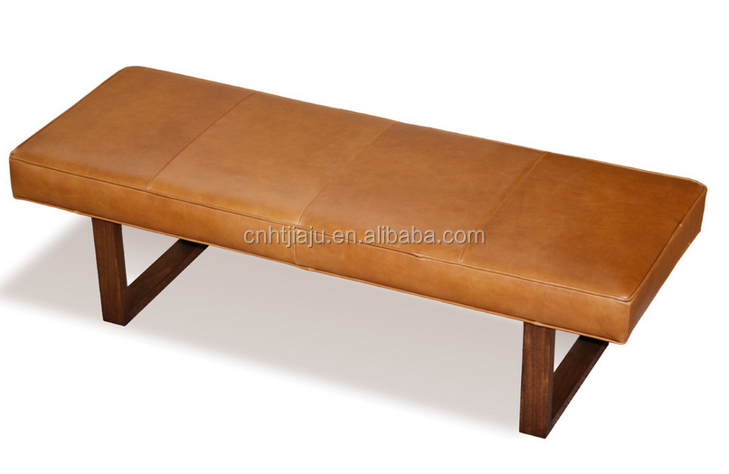 Leather Upholstered Bench Ottoman Hard Wood Frame Bench Buy