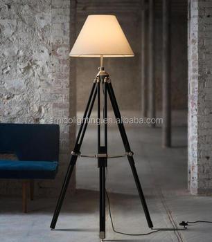 Modern Tripod Wooden Floor Lamp For Living Room Yf702a White