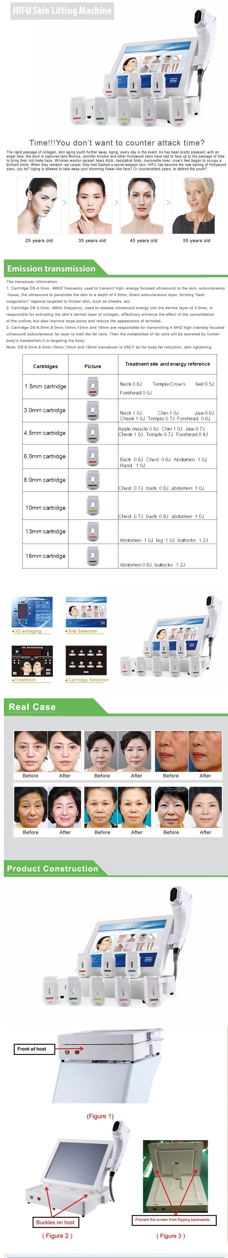 Advanced 3d Hifu With 1-11 Lines Face And Body Lifting Machine