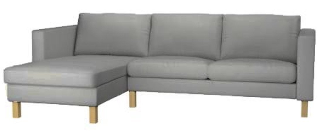 Buy The Karlstad Loveseat ( Two Seat ) Sofa with Chaise Lounge ...