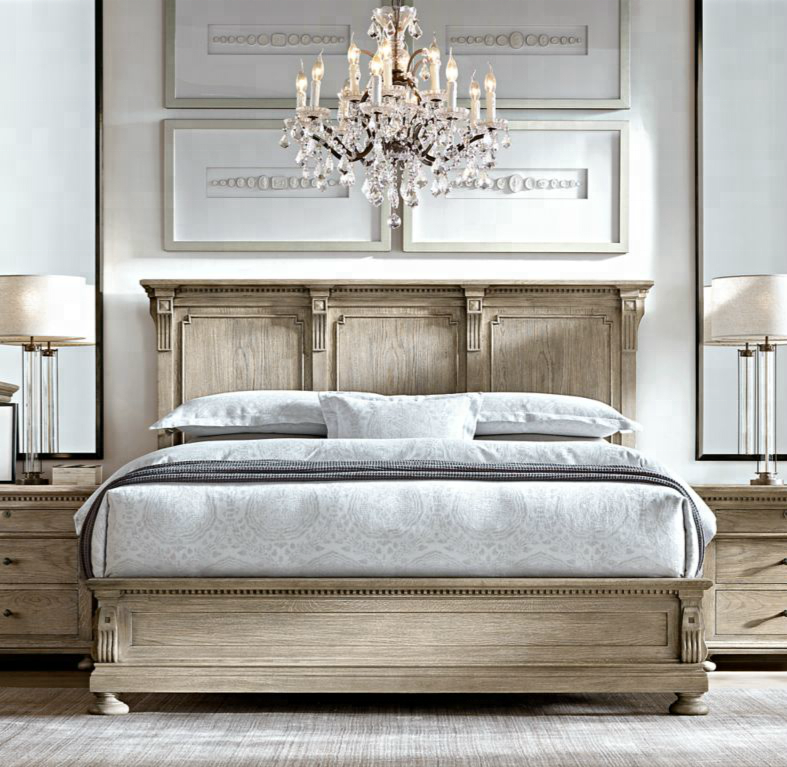 Luxury Bedroom Furniture King Size Bed Material Wooden Frame French ...