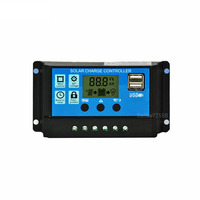 12V 24V 30A Mini PWM Auto Solar Panel Charge Controller 30A 12V 24V Battery Charger Controller Dual USB 5V 2.5A