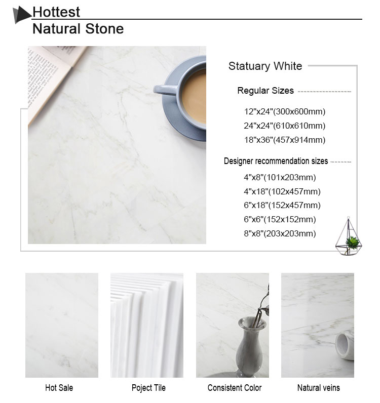 "Century Mosaic 12x24"" Statuary White Cheap Marble Tile Competitive Low Price"