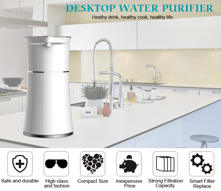 2018 new product  Mini personal water filtration system desktop water purifier