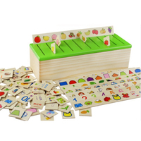 Eco-Friendly Preschool Educational Toys Children's Health and Intellectual Learning Toys Knowledge Classification Box