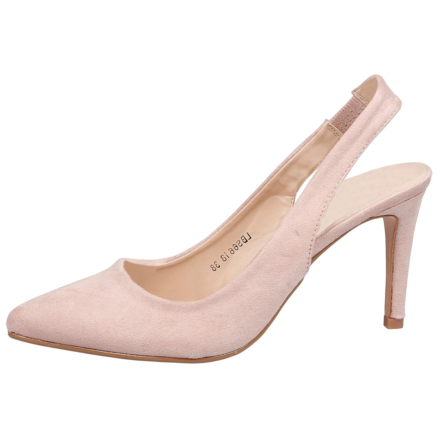 1c3f5e6639b Get Quotations · Feet First Fashion Prudence Womens High Heel Pointed Toe  Slingback Court Shoes