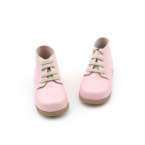 New 2019 Kids Girls Shoes Pink Child Boot Leather Rubber Sole Spring Autumn Boots Girl