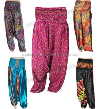 Boho Vib Women's Rayon Print Smocked Waist Boho Harem Yoga Pants by Boho Vib Only 3 left in stock - order soon.