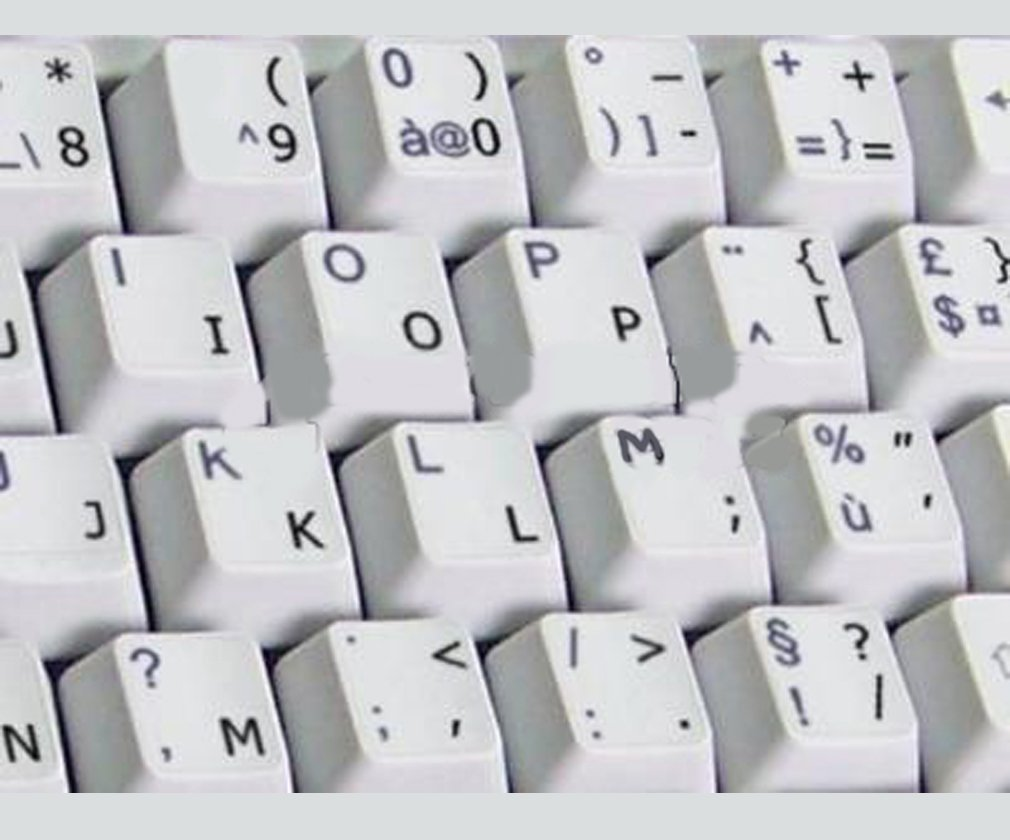 1c7bdc3e657 Get Quotations · Dvorak UK Transparent Keyboard Stickers with Black letters  - for any laptop or keyboard