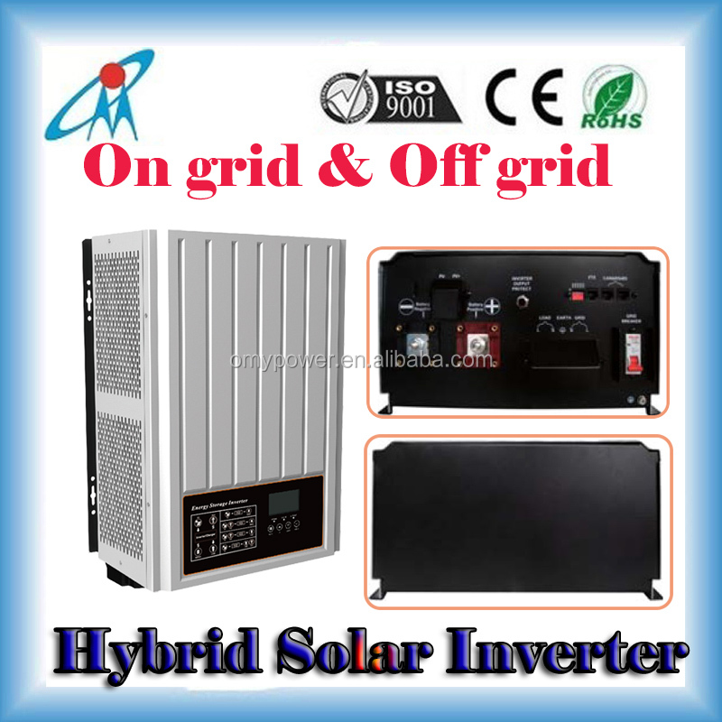 On grid and Off grid hybrid Solar Inverter dual function 2000w 48v to 230v dc ac solar grid tie inverter
