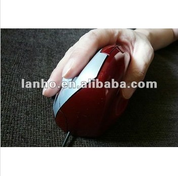 2013 NEW Vertical Mouse ( Ergonomic , Optical , Glossy Red , for Right hand )