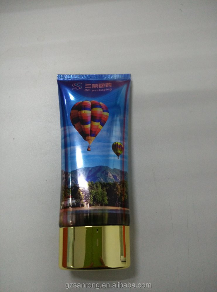Shinny Plastic Barrier laminate with PET PBL cosmetic tube packing for cream