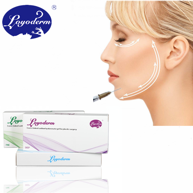 Non surgery cross linked facial hyaluronic acid , injectable dermal filler syringe, hyaluronic acid gel