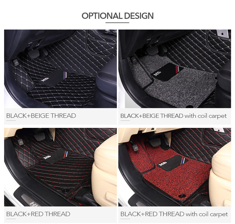 Factory Supply New Style Hot Sell Double Layer PVC Leather 3D 5D Car Floor Mats Used For 7 Seat TOYOTA HIGHLANDER