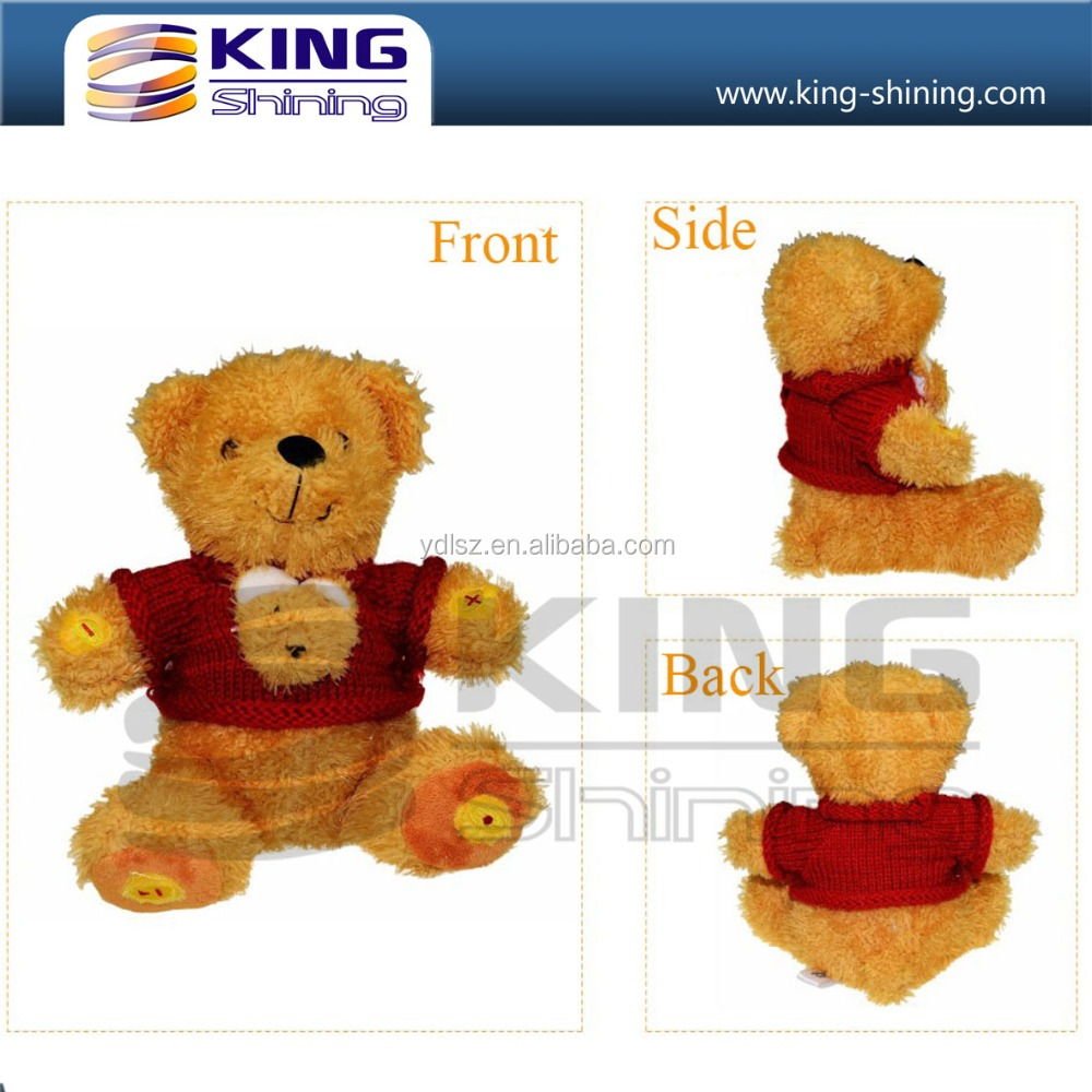 Soft Wearing Sweater Plush Electronic Toy for Gift