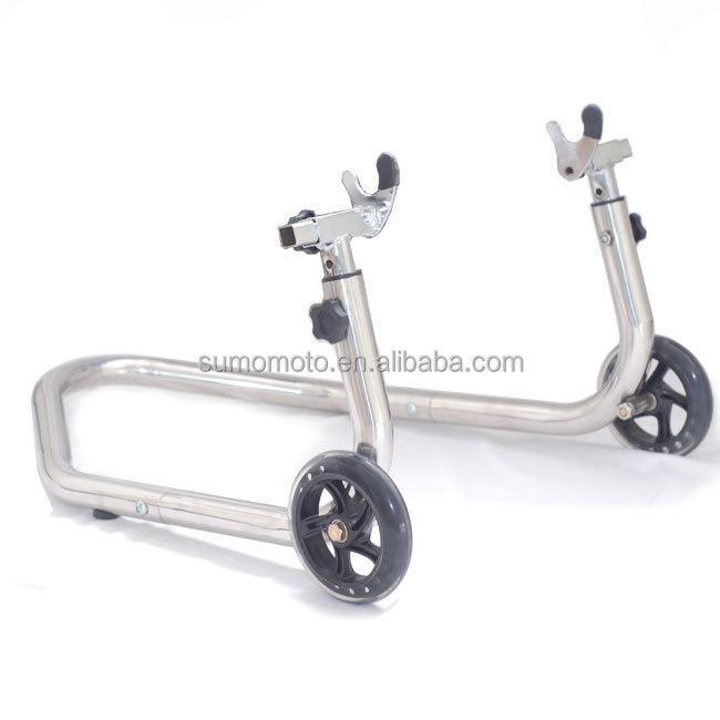 Universal Stainless Steel Motorcycle Rear Stand Paddock