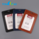 wholesale very high quality business leather badge card holder for exhibition 6838