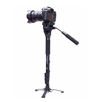 Yunteng 288 aluminum alloy telescope camera 3 way monopods with camera tripod