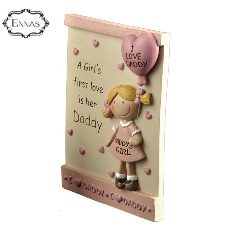 mother and father days resin 3D frame statues for gift