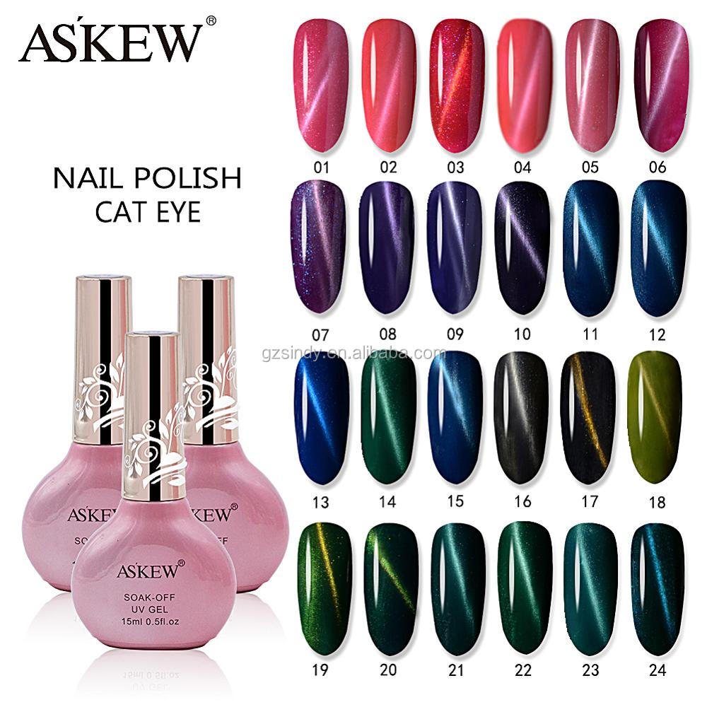 24 color of Latest Nail soaf off Cat Eye UV Gel Nail Polish