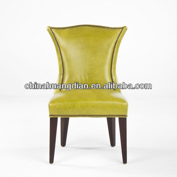 HDC944 leather upholstered Chairs wooden furniture