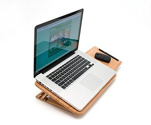 foldable bamboo tablet pc holder pad wooden vertical laptop stand