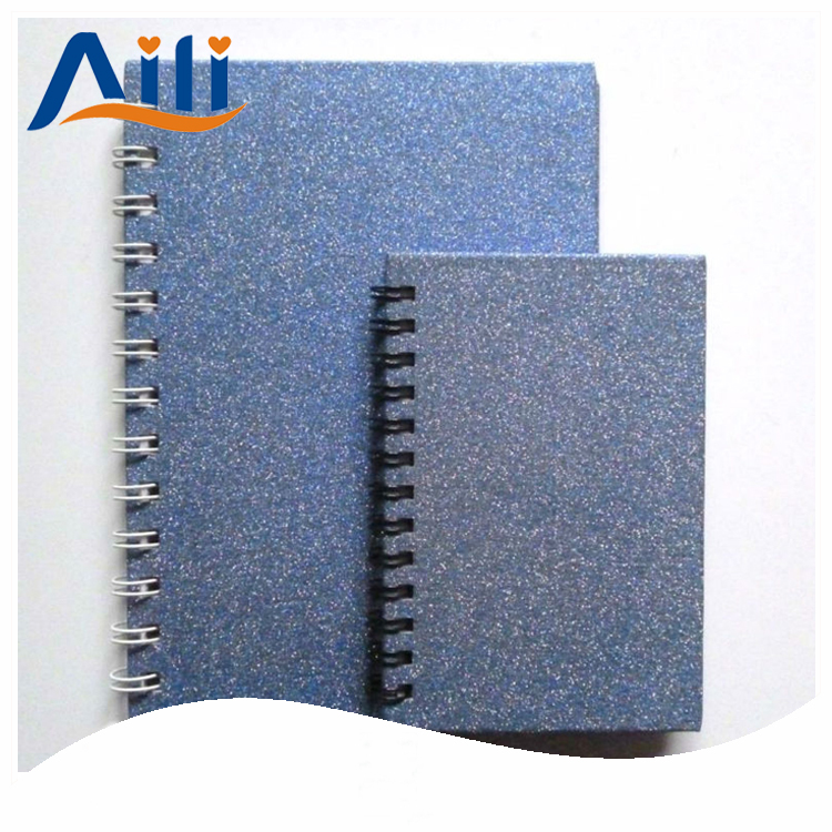 2018 Custom design spiral glitter hardcover notebook and writing pads