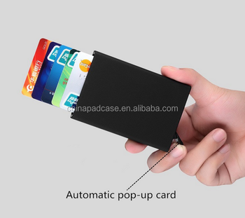 4a6890f074a Hot verkoop OEM Logo Multi kleur RFID blocking card lade Aluminium  kaarthouder/Kwaliteit Mode stijl